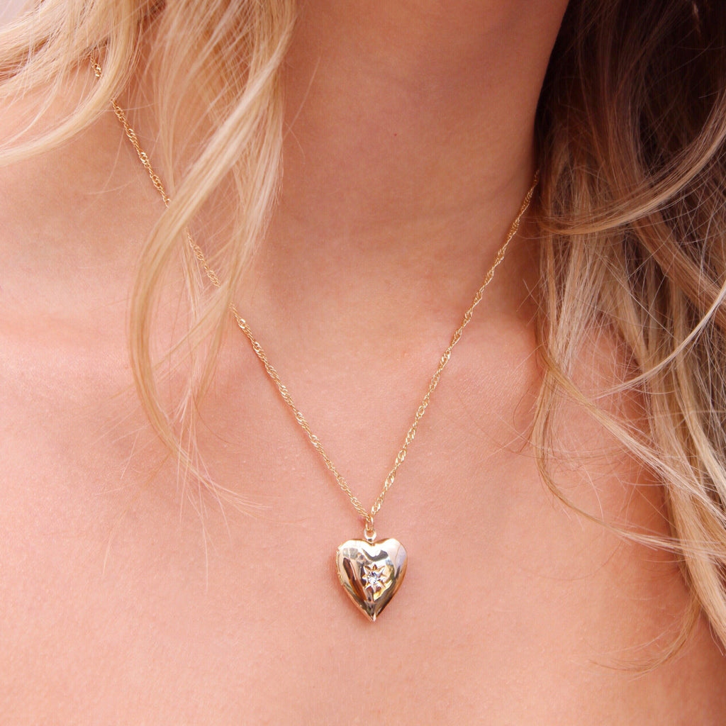 Key To My Heart Locket in Gold
