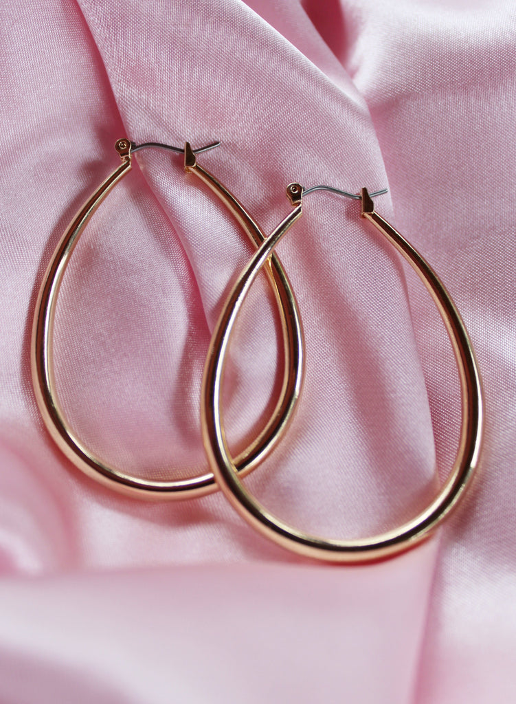 Large Angel Staple Hoops
