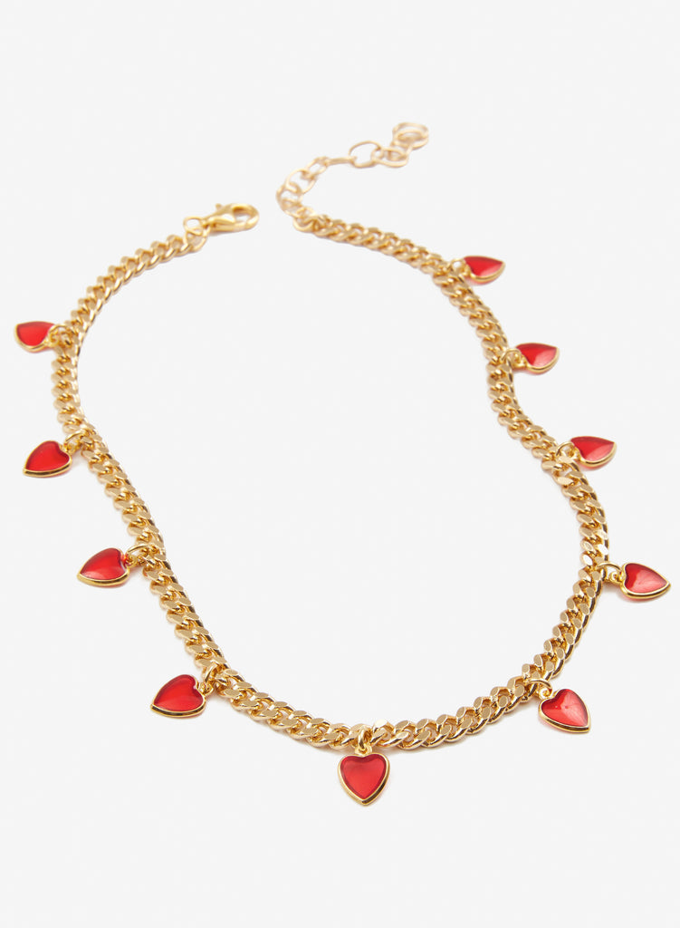 Mamacita Choker - Red Hearts