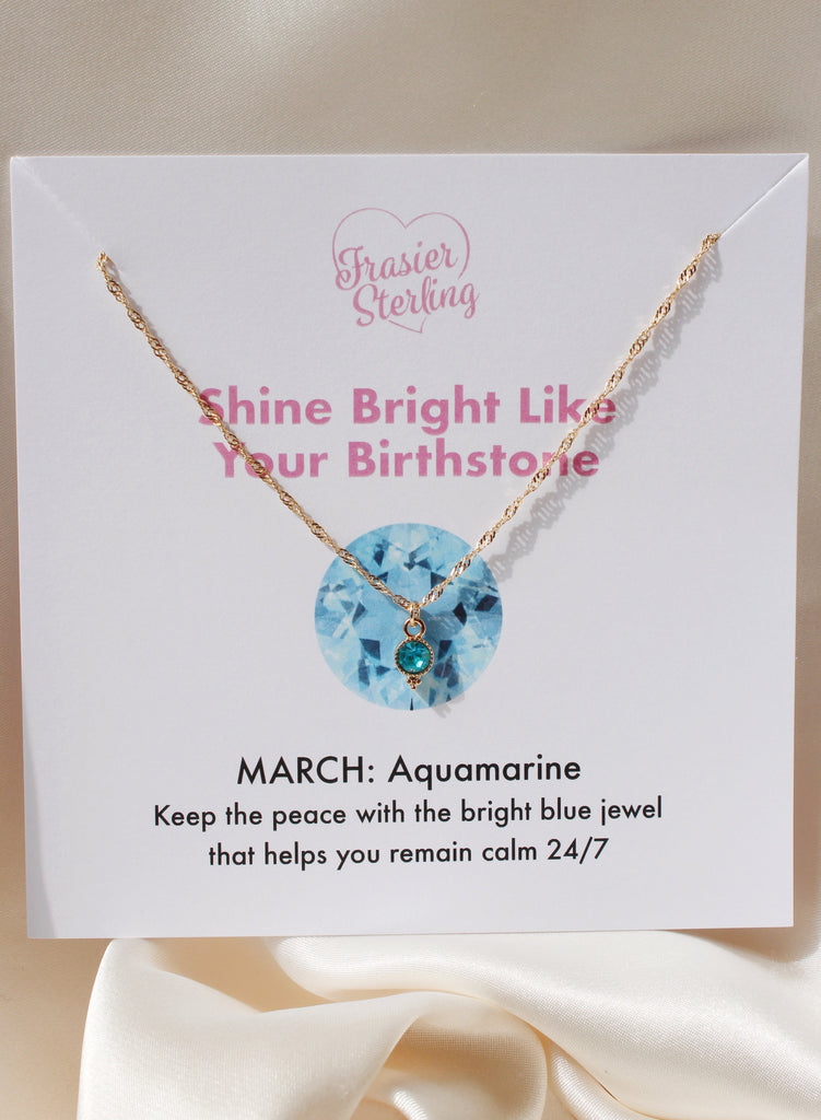 March Birthstone Sparkle Necklace