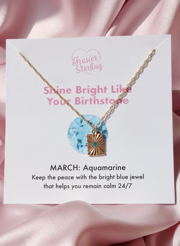 March Light My Fire Birthstone Necklace