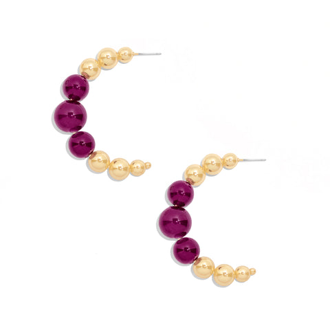 Mimosa Hoops in Purple
