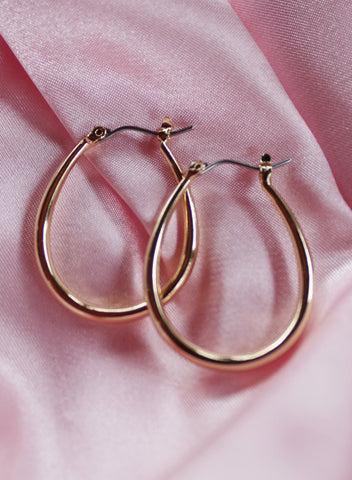 Small Angel Staple Hoops