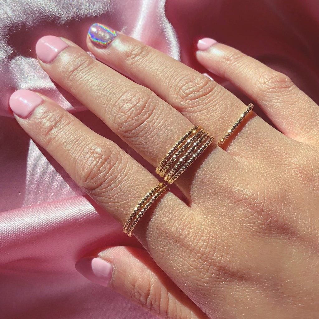 So Much Love Rings in Gold