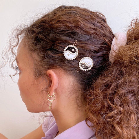Yin Yang Hair Clippies