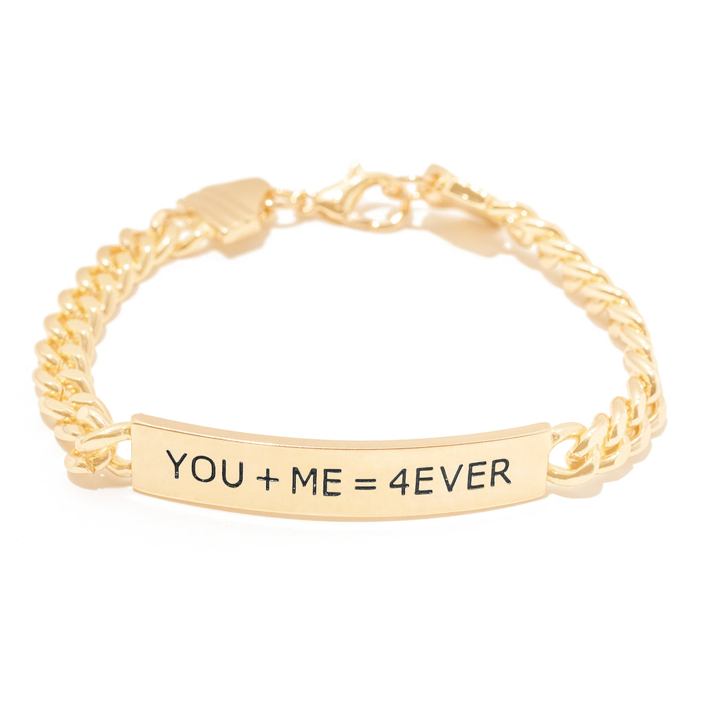 You and Me Bar Bracelet