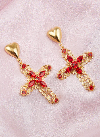 Madonna Earrings - Red