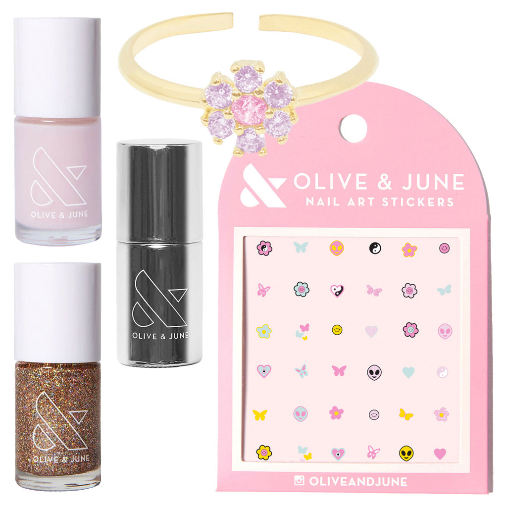 FS x O&J Groovy Bouquet Mani + Ring Set