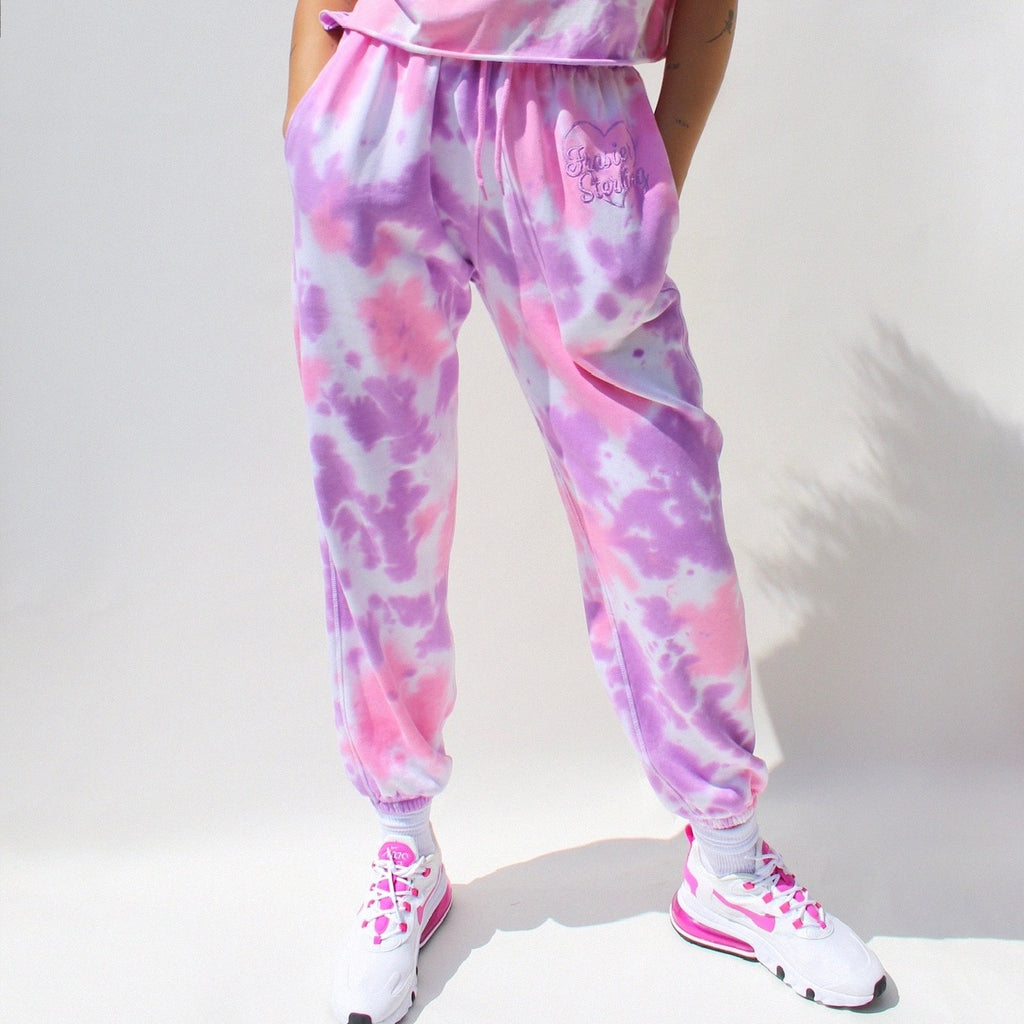 Cotton Candy Tie Dye Sweatpants