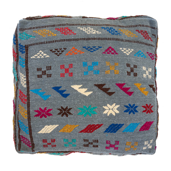 Moroccan Wool Pouf Cover