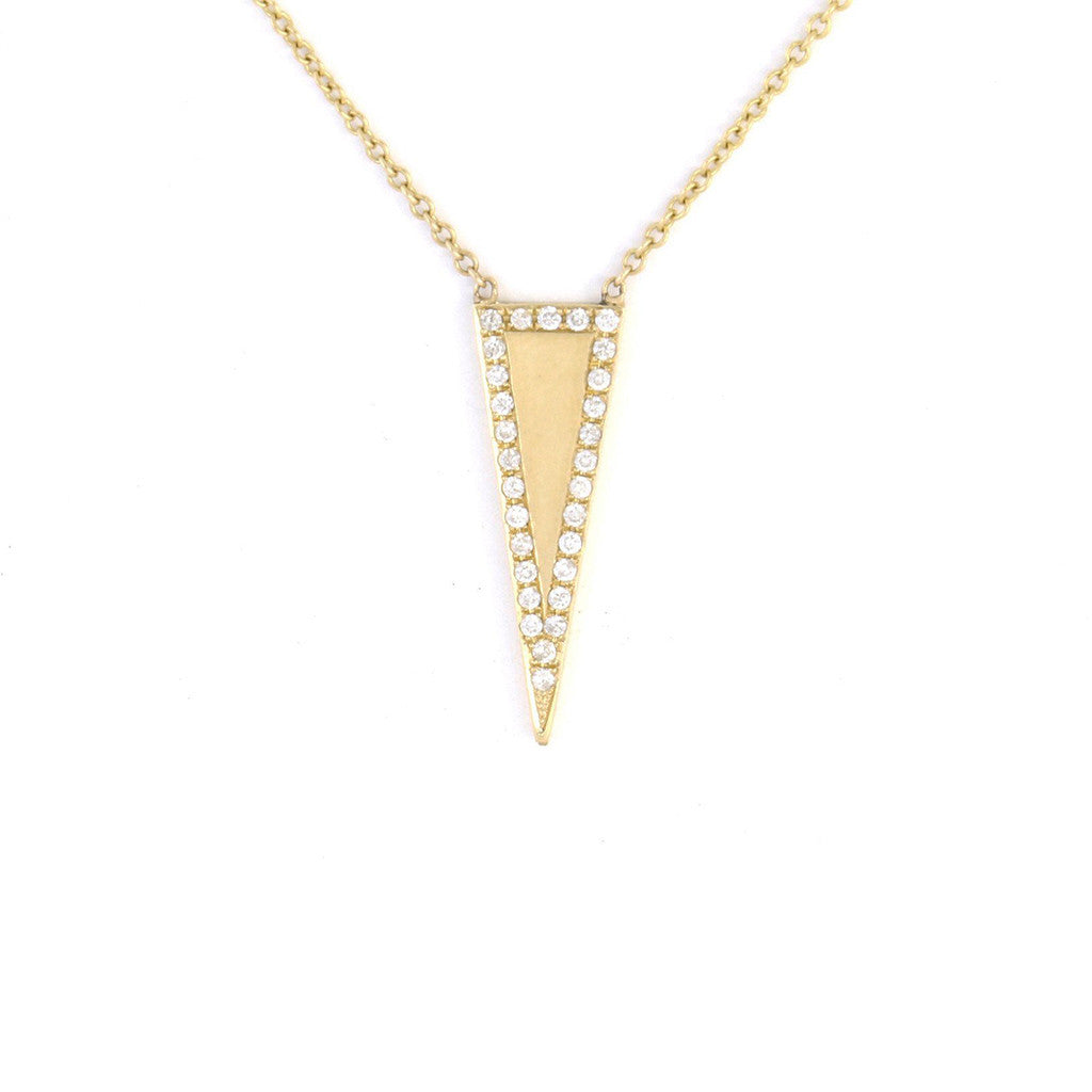 Deco Triangle Necklace
