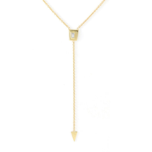 Tapered Diamond Lariat Necklace