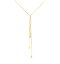 Diamond Tassel Lariat Necklace