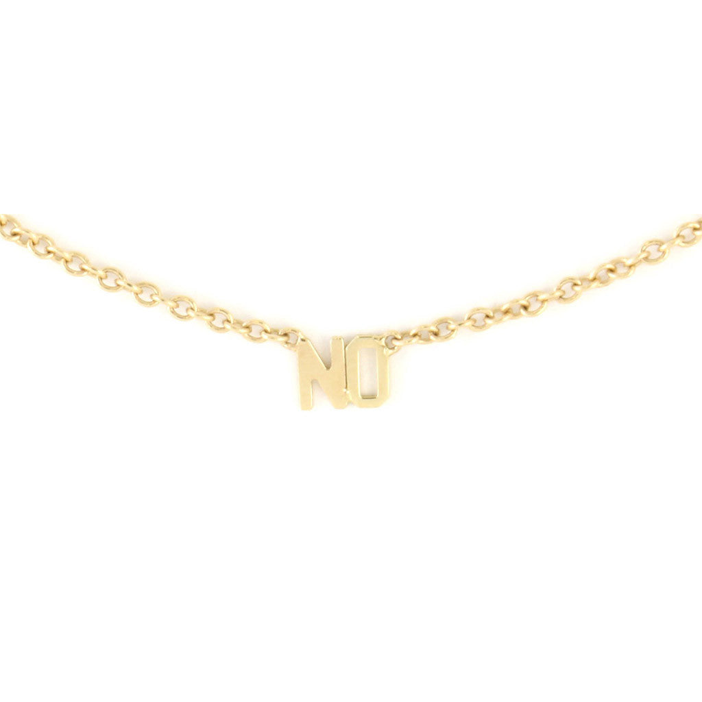 'NO' Necklace