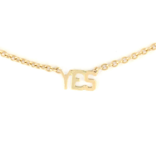 'YES' Necklace