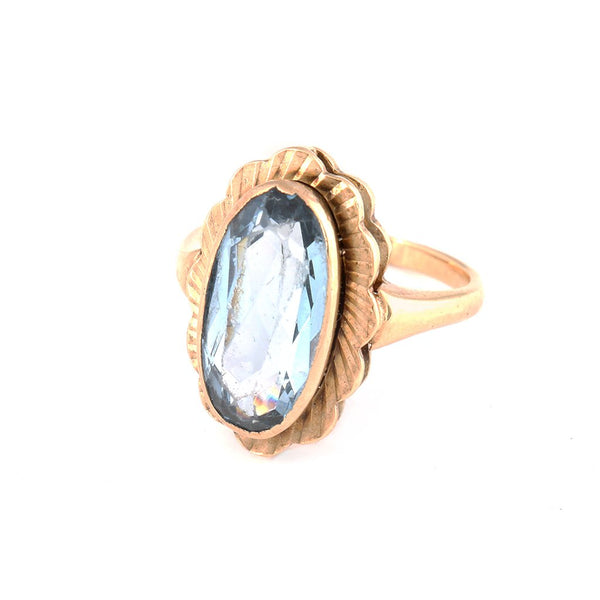 Gold Ring with Blue Topaz