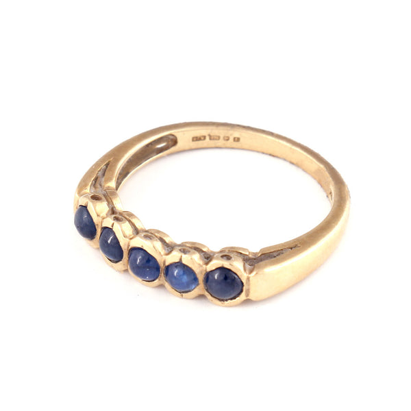 Gold Ring with Cabochon Sapphires