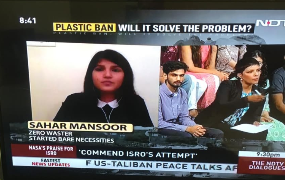 Bare Necessities on NDTV We the People Talking about the Nation Wide Plastic Ban
