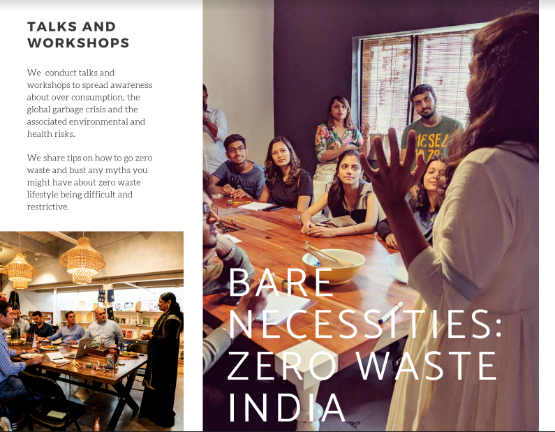 9d1d967b01a Bare Necessities conducts trash talks and workshops - to spread awareness  about over-consumption, the global garbage crisis, and the associated ...
