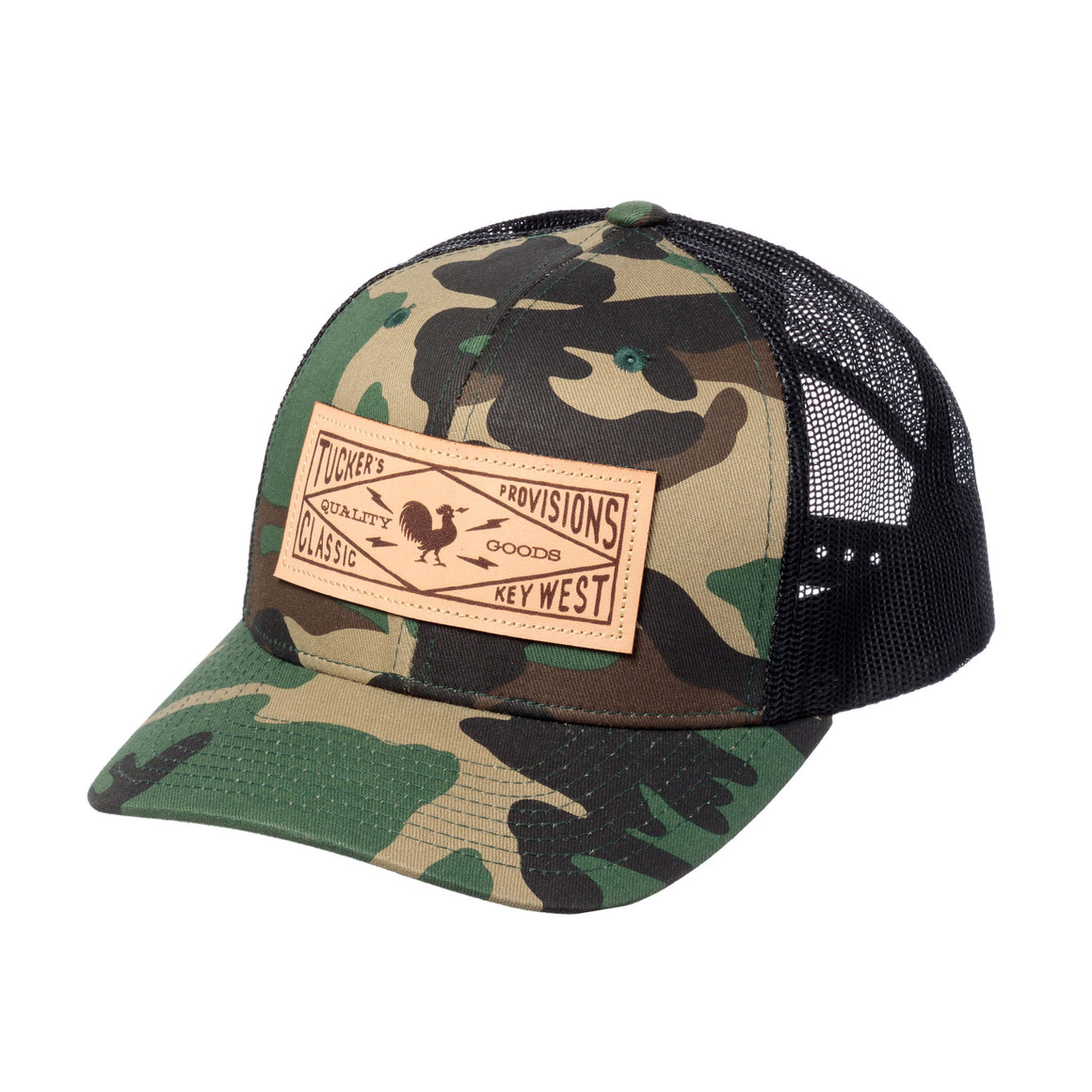 Postmark Leather Patch Trucker - Camo