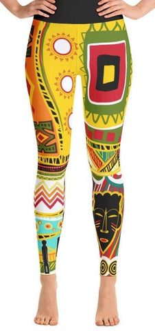 African Yoga Leggings