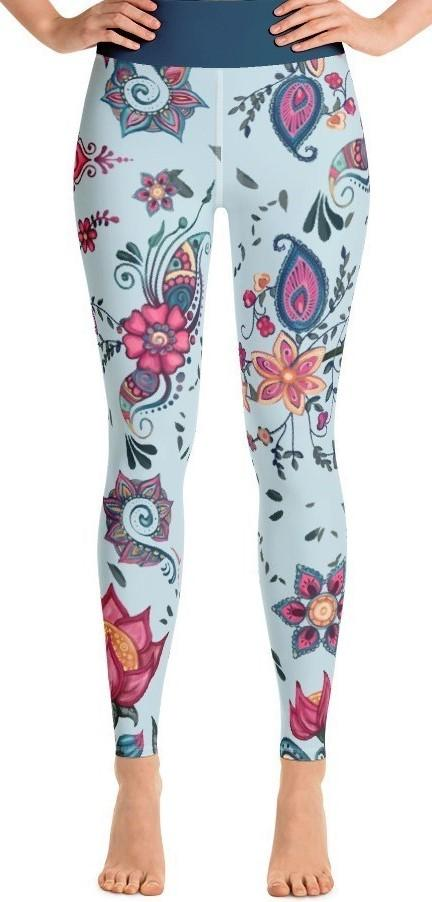 Persian Floral Yoga Leggings