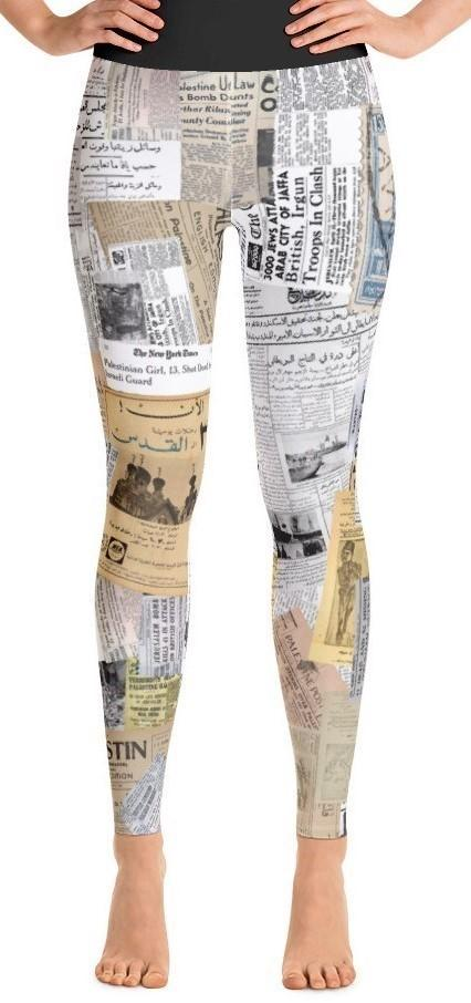 History of Palestine Yoga Leggings