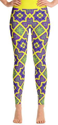 Islamic Geometric Yoga Leggings