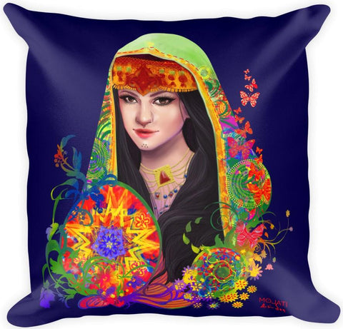 """Saleema"" Square Pillow - MOJATI"