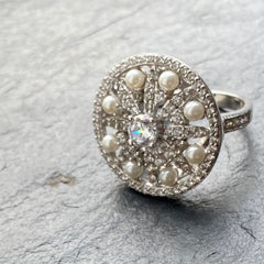Art Deco style statement ring