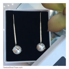 Handmade Sterling Silver Swarovski Pearl Earrings at Twelvesilvertrees.com