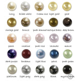 Colour chart of natural pearl colours Twelvesilvertrees.com