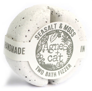 Agnes & Cat 2 Bath Fizzers Agnes & Cat Twelve Silver Trees Sea Salt & Moss
