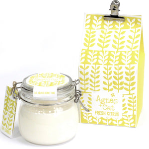 Agnes & Cat Soy Wax Kilner Jar Candle 80hrs Agnes & Cat Twelve Silver Trees Fresh Citrus