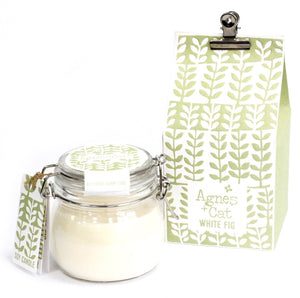 Agnes & Cat Soy Wax Kilner Jar Candle 80hrs Agnes & Cat Twelve Silver Trees White Fig