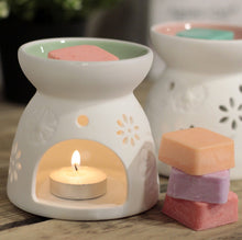 Load image into Gallery viewer, Agnes & Cat Soy Wax Melts With Ceramic Diffuser. Agnes & Cat Twelve Silver Trees