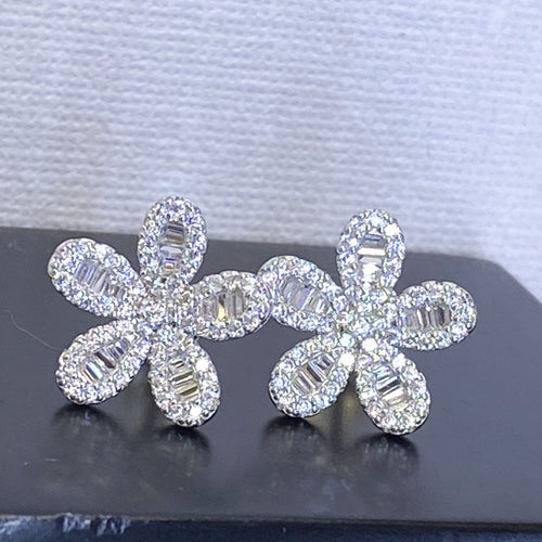 Art Deco Inspired Daisy Stud Earrings Earrings Twelve Silver Trees Jewellery