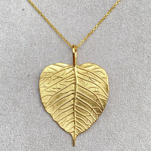 Autumn Leaves Sterling Silver, 18 Carat Gold Leaf Pendant Necklace & Pendants Twelve Silver Trees Jewellery