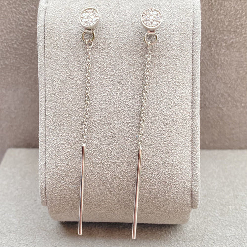 Dainty Chain Link Drop Earrings Earrings Twelve Silver Trees Jewellery