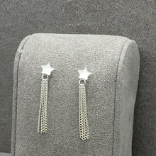 Load image into Gallery viewer, Star & Tassel Drop Stud Earring Earrings Twelve Silver Trees Jewellery