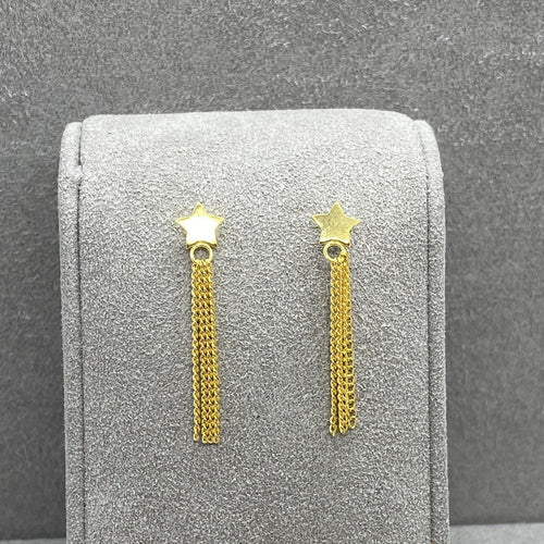 Star & Tassel Gold Vermeil Drop Stud Earring Earrings Twelve Silver Trees Jewellery