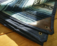 Waxed Canvas and Mexican Serape Blanket Bed Roll