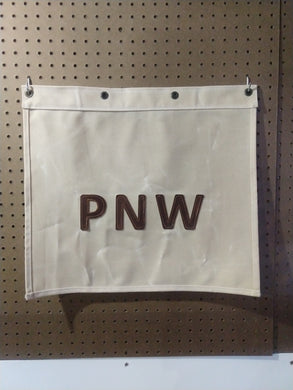 PNW Waxed Canvas and Leather Banner