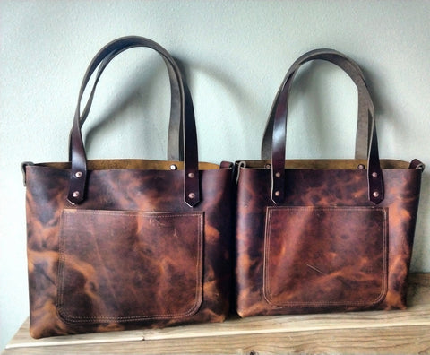 The Yuba - Sunset Tan Leather Tote