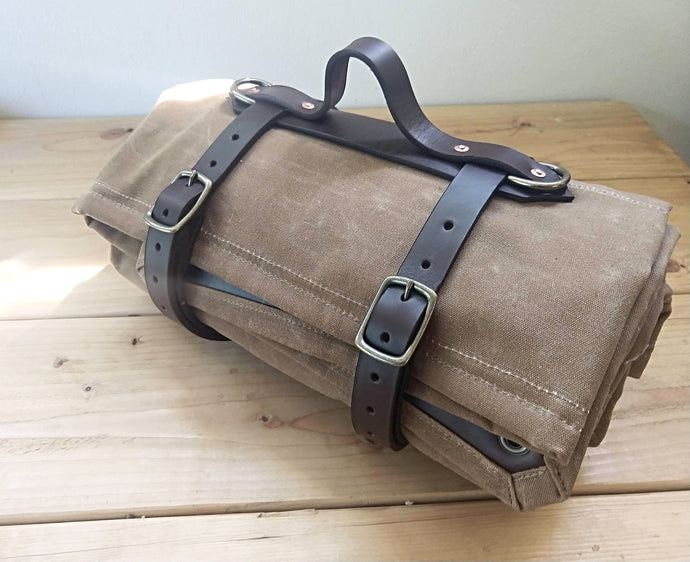 Leather Blanket Carrier and Shoulder Strap