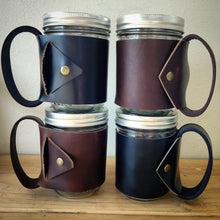 In Irons - Leather Wrapped Mason Jar Mug
