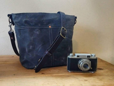 Reid Harbor Waxed Canvas and Nylon Crossbody Bag