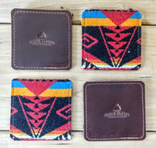 Pendleton Wool & Horween Leather Drink Coasters