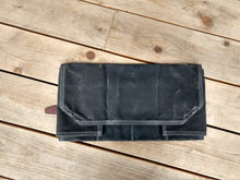 Waxed Canvas Utility Roll - Tools, Toiletries, Art Supplies, Cords