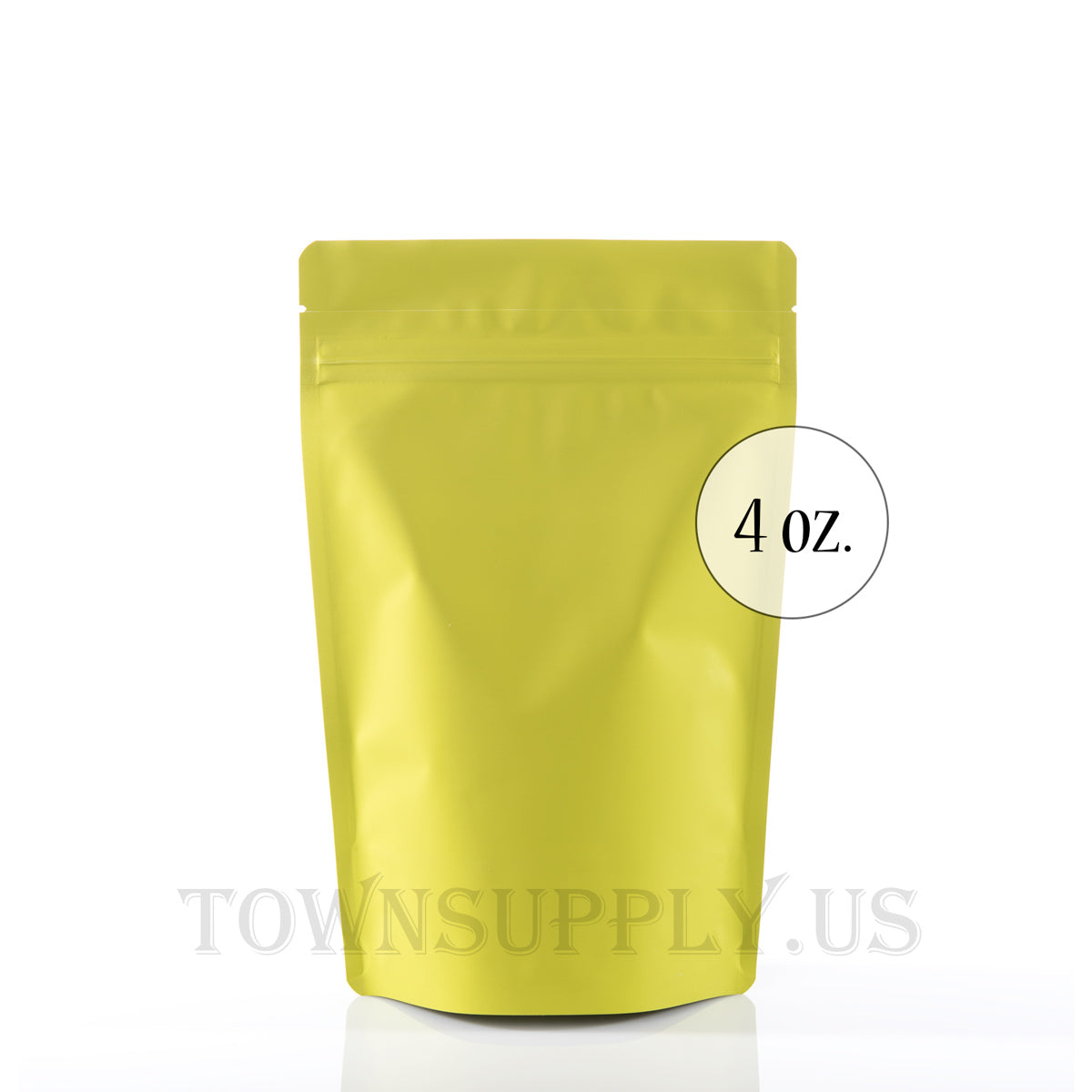 chartreuse resealable stand up pouch, 4 oz. storage bags - Town Supply